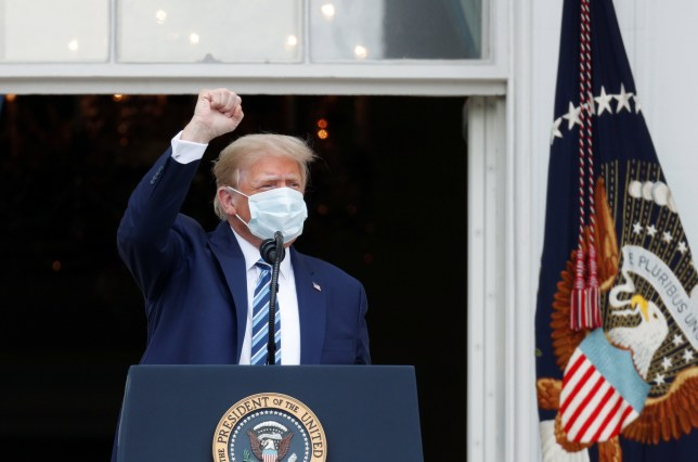 Donald Trump on the White House balcony