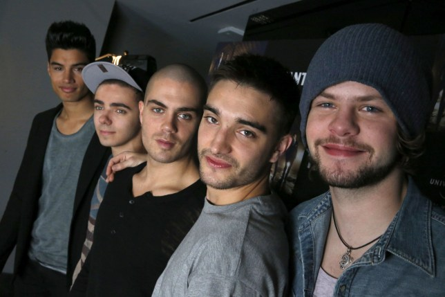 Members of British Band 'The Wanted' Pose For the Photographer During an Interview to Promote Their Latest Album 'Walks Like Rihanna' in Madrid Spain