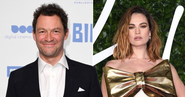Dominic West and Lily James Getty