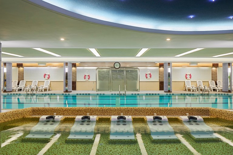 Hotels of Pyongyang captures photos of hotels interiors and staff in North Korea's capital city: the swimming pool
