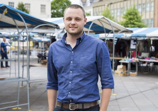 Mandatory Credit: Photo by Fabio De Paola/REX/Shutterstock (8863450c) Ben Bradley MP Ben Bradley Conservative MP, Mansfield, UK - 31 May 2017 Conservative Member of Parliament for Mansfield Ben Bradley in the party campaign office in Mansfield Town Square