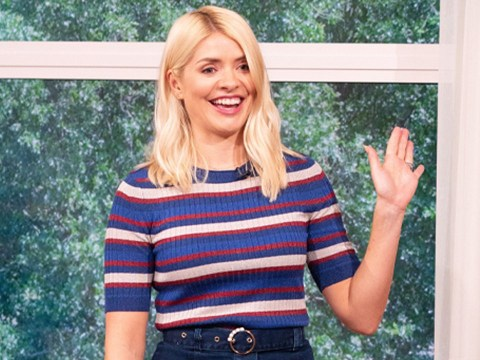 Holly Willoughby caught in nothing but underwear as daughter opens toilet door