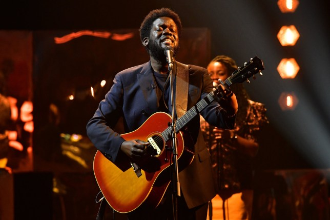 EDITORIAL USE ONLY Michael Kiwanuka performs during the filming for the Graham Norton Show at BBC Studioworks 6 Television Centre, Wood Lane, London, to be aired on BBC One on Friday evening. Picture date: Thursday Octboer 15, 2020. Photo credit should read: PA Media on behalf of So TV