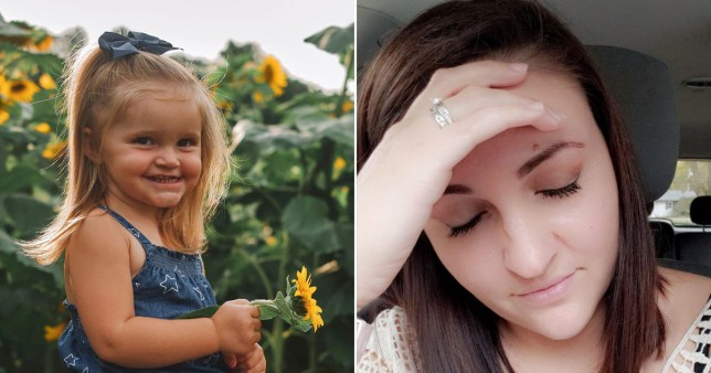 MUM-OF-FOUR EMILY SCHMITT, 30, WITH TWO-YEAR-OLD DAUGHTER CARSYN, FROM OHIO, US.