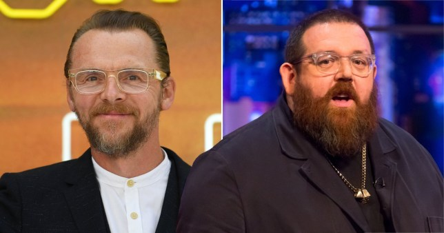 Nick Frost once knocked himself unconscious while ghost hunting with Simon Pegg