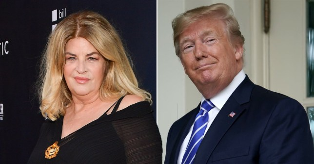 Kirstie Alley and President Donald Trump