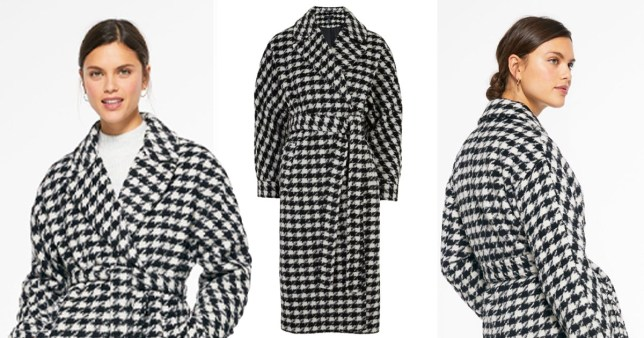 New Look dogtooth coat
