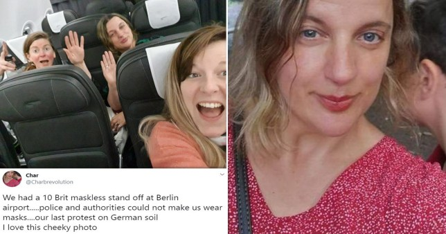 British woman defends decision not to wear mask on plane