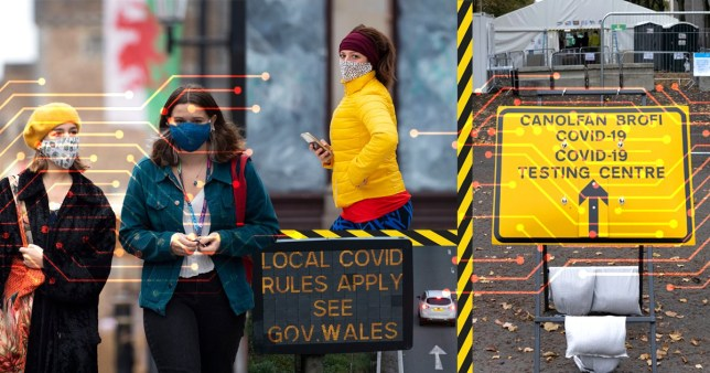 People head out in Wales as the Government announces new restrictions (Picture: Getty Images )