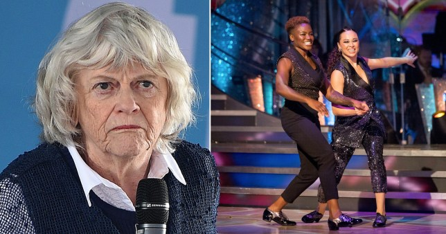 Anne Widdecombe says families 'don't want to watch' same sex couples on Strictly (Picture: Getty, PA)