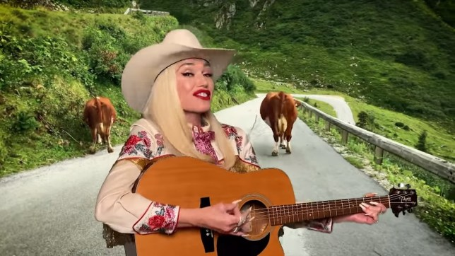 Gwen Stefani gives Blake Shelton a run for his money as she remakes her hits as country tunes