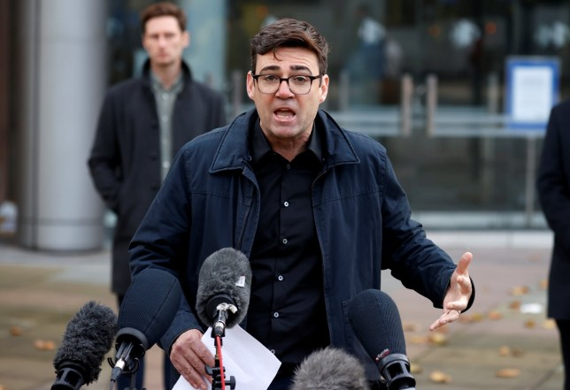 Andy Burnham, mayor of Manchester, holds a news conference, amid the outbreak of the coronavirus disease (COVID-19), in Manchester, Britain, October 20, 2020. REUTERS/Phil Noble