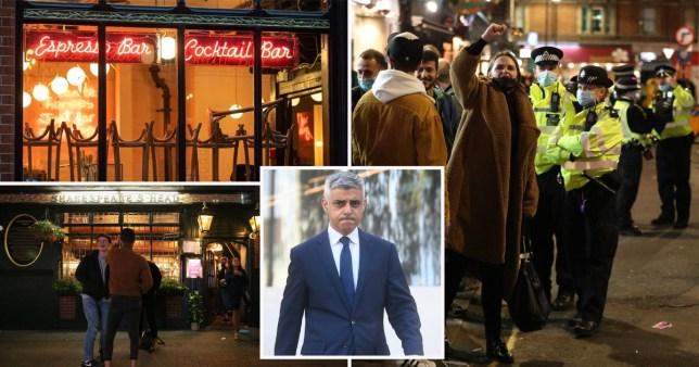 Sadiq Khan makes fresh call for 10pm London curfew to be scrapped immediately