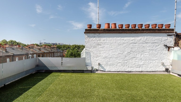 rooftop terrace on top of london tower property for sale
