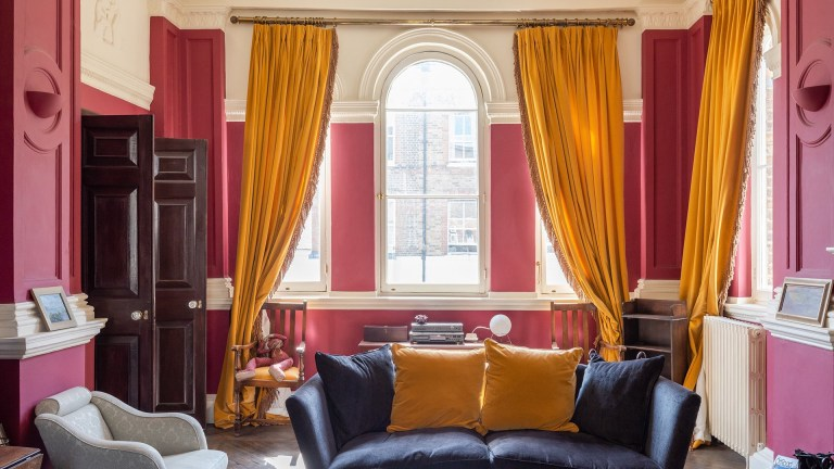 living room in victorian tower for sale