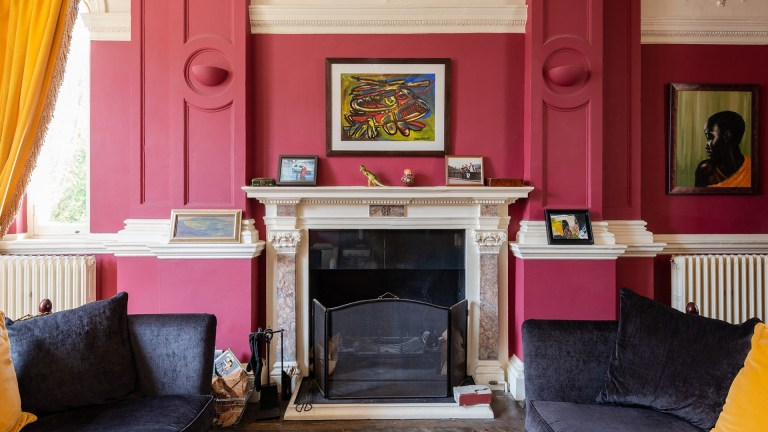 The stunning folly tower property, designed and constructed by one of the founding members of the Roay Institue of British Architects - the living room
