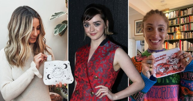 Maisie Williams, Zoe Sugg and Adwoa Aboah team up with WaterAid to launch ?period bag