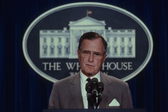 george hw bush at a press conference