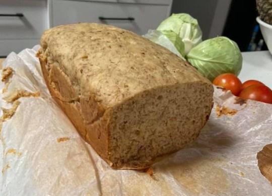 Three-ingredient banana bread