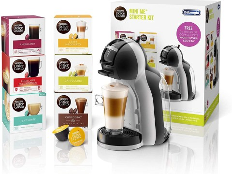 5-star rated Dolce Gusto coffee machine is down to £59.99 – and comes with 96 free pods