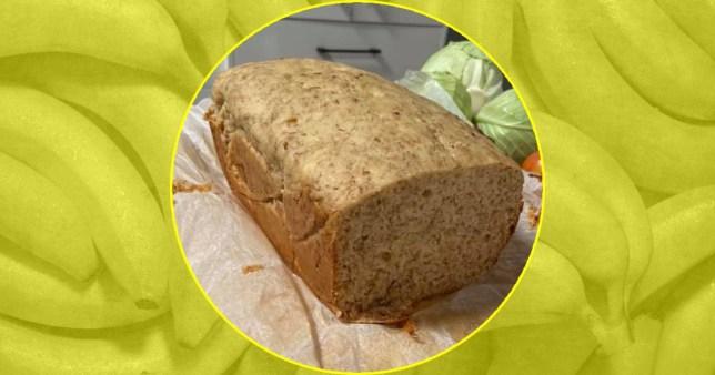 Three-ingredient banana bread Getty/Facebook