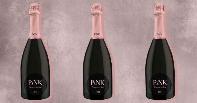 bottles of pink prosecco