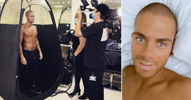 Max George's epic Strictly spray tan