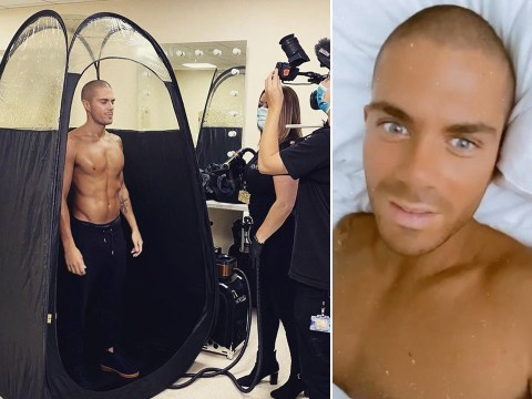 Max George goes hard on the spray tan before Strictly Come Dancing: 'I've been tangoed'