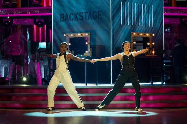 Nicola Adams (left) and Katya Jones during the dress rehearsal for Saturday's programme in the BBC1 dancing contest, Strictly Come Dancing
