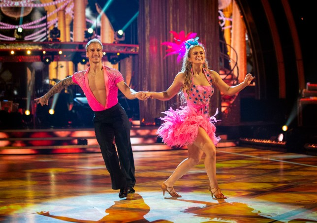 EMBARGOED TO 2115 SATURDAY OCTOBER 24 For use in UK, Ireland or Benelux countries only BBC handout photo of Maisie Smith and Gorka Marquez during the dress rehearsal for Saturday's programme in the BBC1 dancing contest, Strictly Come Dancing. PA Photo. Picture date: Saturday October 24, 2020. See PA story SHOWBIZ Strictly. Photo credit should read: Guy Levy/BBC/PA Wire NOTE TO EDITORS: Not for use more than 21 days after issue. You may use this picture without charge only for the purpose of publicising or reporting on current BBC programming, personnel or other BBC output or activity within 21 days of issue. Any use after that time MUST be cleared through BBC Picture Publicity. Please credit the image to the BBC and any named photographer or independent programme maker, as described in the caption.