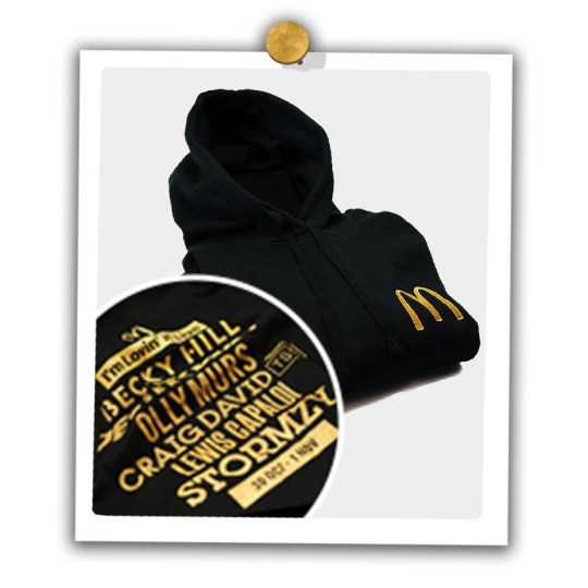 McDonald's new hat with name of artists inscribed