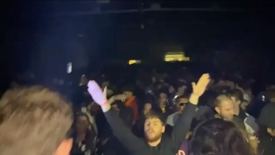 Hundreds of party-goers were filmed at an illegal rave flouting coronavirus restrictions in London.