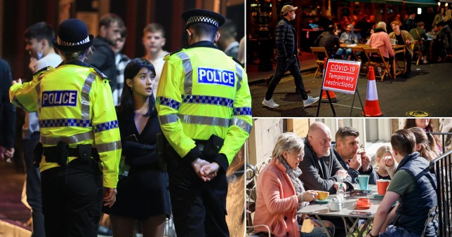 Councils are hiring Covid enforcement officers to exercise powers previously used by police to investigate breaches and take action against the culprits (Picture: Getty, PA)