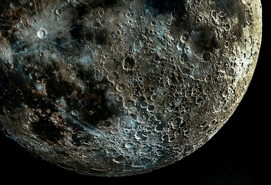 A composite picture of the moon made up from thousands of pictures taken at different moon phases to capture every detail of the craters. - NASA has today confirmed that there is water on the sunlit surface of the moon. The revelation means it is possible water is easily accessible and not just in the deep, permanently shadowed craters of the south pole, as was previously thought. NASA also announced that the cold traps, areas which are permanently in shadow, may contain up to 15,000 square miles (40,000 square km) of water.