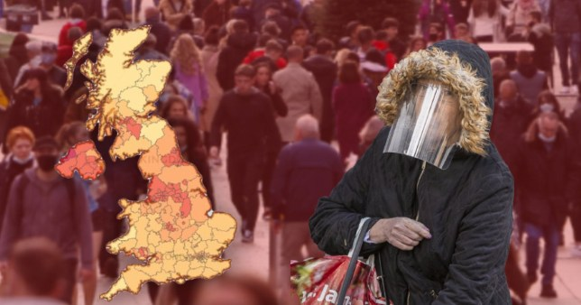 Interactive map shows risk of being around infected people in crowds around UK Pics: AFP/PA