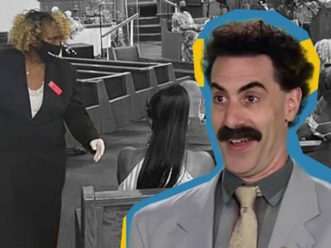 Borat babysitter spends newfound fame helping bereaved family in church