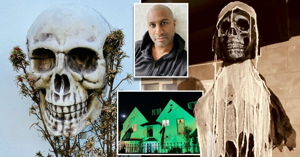Local councillor ask to take down scary Halloween decorations by neighbours