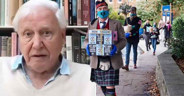 Extinction Rebellion doorstep Sir David Attenborough after he criticised its tactics
