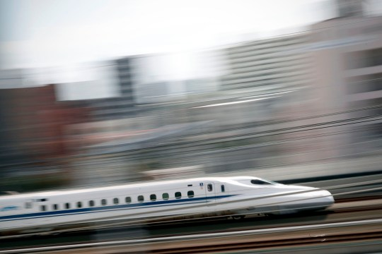 The shinkansen, known in English as the bullet train