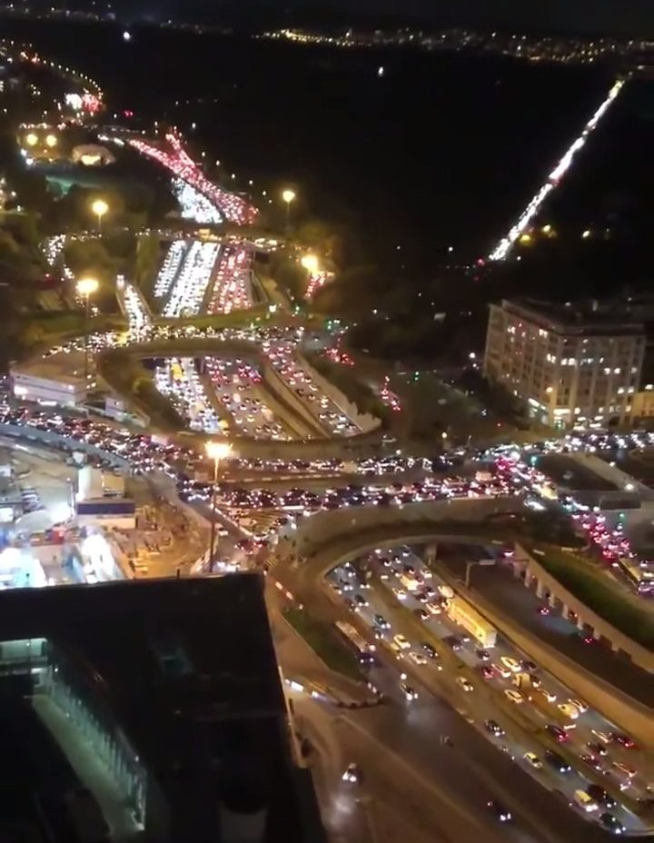Paris gridlocked as tens of thousands try to leave the city as country goes into 2nd lockdown