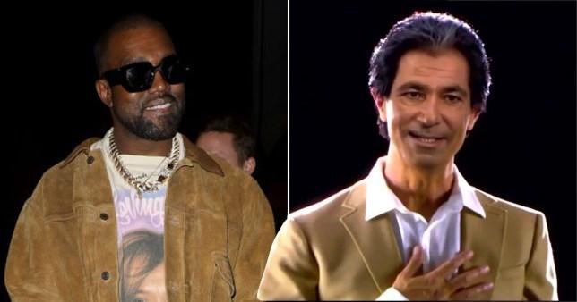 Kanye West and Robert Kardashian hologram