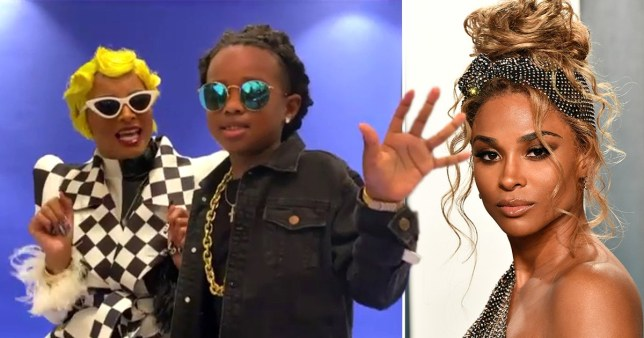 Picture:Ciara , Getty Ciara and son dress as Cardi B and Offset
