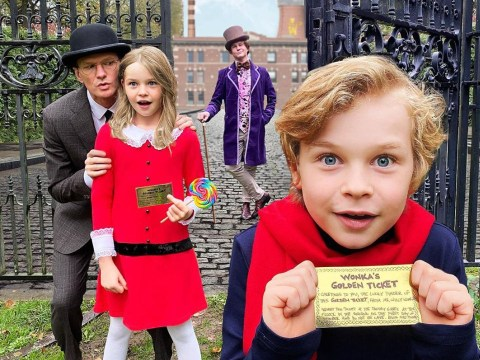 Neil Patrick Harris' family embodies Charlie and the Chocolate Factory for Halloween and it's everything