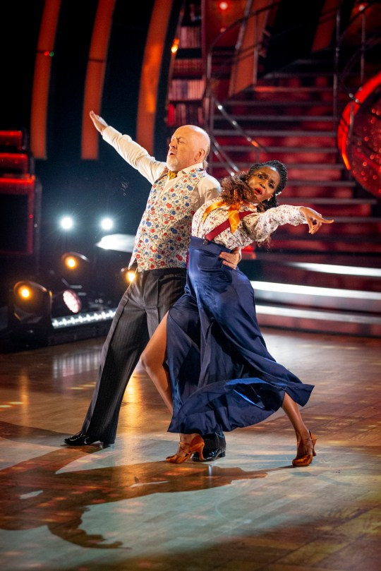 Bill Bailey and Oti Mabuse on Strictly Come Dancing