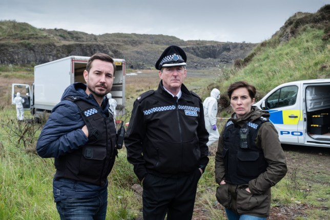 Television programme: Line of Duty; - Series 5. Steve (MARTIN COMPSTON), Hastings (ADRIAN DUNBAR), Kate (VICKY MCCLURE) - (C) World Productions - Photographer: Peter Marley