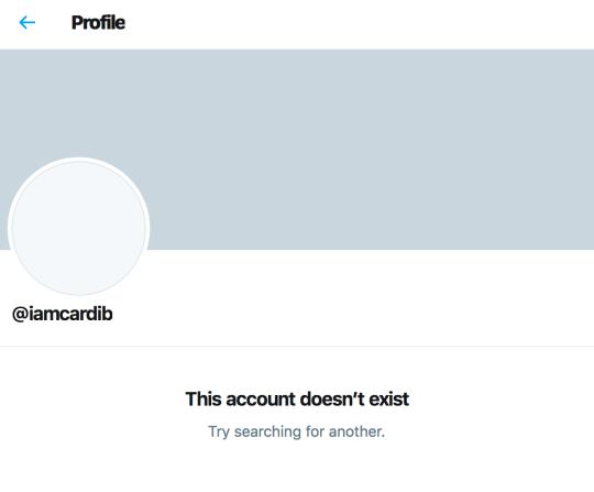 Cardi B Twitter account