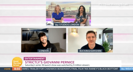 Kate Garraway and Ranvir Singh hosting Good Morning Britain