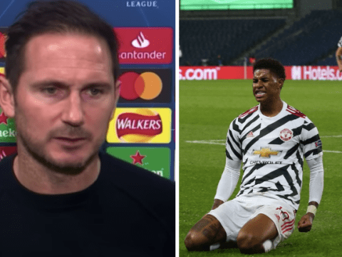 Frank Lampard reacts to Manchester United beating PSG ahead of Chelsea's trip to Old Trafford