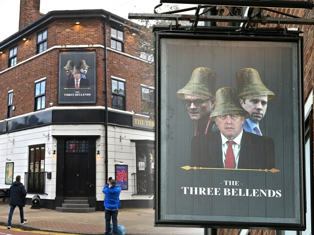 A sign on a Wirral pub renamed 'The Three Bellends'