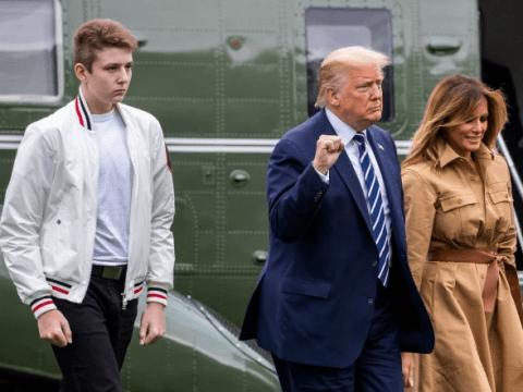 Donald Trump's son Barron, 14, had Covid, Melania reveals
